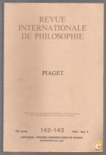 Revue Internationale de Philosophie, 142-143 (Piaget)