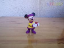 Boneco Disney Minnie Com Presente Bully PVC