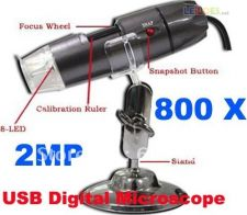 Microscópio Digital USB 800 X 2.0 MP com luz (8-LED)