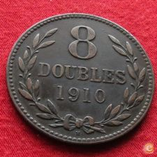 Guernsey 8 doubles 1910 KM# 7 w
