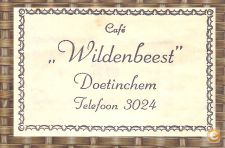 ( 157 ) ( 21 )  café wildenbeest