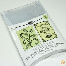 2 Embossing SIZZIX, A2 Large «PACOTE SEMENTES», 657665