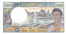 NOTA DO PACIFICO, 500 FRANCS DE 1992, NOVA