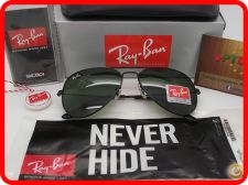 STOCK - Oculos Sol Ray Ban Aviator RB 3025 - Pretos Verdes