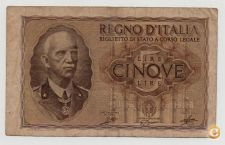 ITALY 5 LIRE 1940 PICK 28 VER SCANS