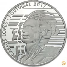 Ek # 7,50 euro Prata Proof Portugal 2017 Carlos Lopes