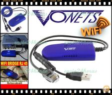 Vonets VAP11G WiFi Bridge Wireless PC PS3 Xbox TV Satélite