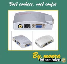Conversor Switch Universal VGA para TV / RCA / S Video
