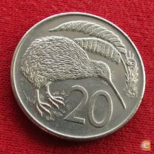 Nova Zelândia New Zealand 20 cents 1984 KM# 36.2   *V