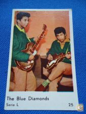 * CROMO PASTILHAS THE BLUE DIAMONDS GUM CARD SERIE L 25