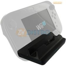 Base Dock Station Carregador Game Pad Wii U Preto