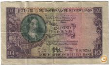 AFRICA DO SUL SOUTH AFRICA 10 POUNDS 1955 PICK 98 VER SCANS