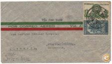 CARTA ENVELOPE MEXICO NEW YORK ALEMANHA CINSURA NAZI 1941
