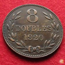 Guernsey 8 doubles 1920 KM# 14    #2 w