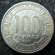 África Central 100 francs 2003 KM# 13 Central African States