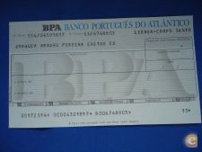 CHEQUE ANTIGO BANCO PORTUGUES DO ATLANTICO