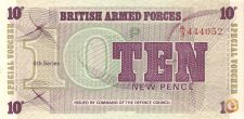 BRITISH FORCES -10 NEW PENCE -1972-6th SERIES-NÃO CIRCULADA