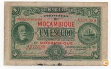 MOÇAMBIQUE PORTUGAL 1 ESCUDO 1921 PICK 66 VER SCANS
