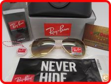 STOCK - Oculos Ray Ban Aviator RB 3025 - Castanhos Gradiente