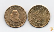MOEDA AFRICA DO SUL SOUTH AFRICA 1/2 PENNY 1964 ENDRAG UNC