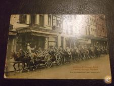 Artillery of German army passing through Brussels 1914/18