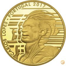 Ek # 7,50 euro Ouro Proof Portugal 2017 Carlos Lopes