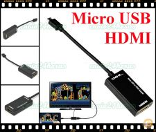 Cabo MHL micro USB HDMI Galaxy S3 S4 S5 Note HTC ...