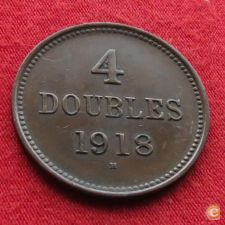Guernsey 4 doubles 1918 KM# 13 w