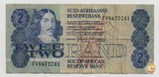 SOUTH AFRICA 2 RAND 1981 - 1983 PICK 118 C VER SCANS