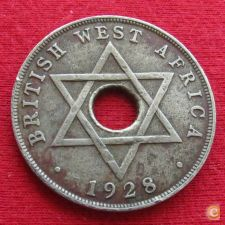 British West África Ocidental Oeste 1 penny 1928