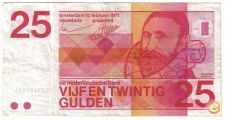 HOLANDA NETHERLANDS 25 GULDEN 1971 PICK 92 A VER SCANS