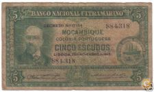 PORTUGAL MOÇAMBIQUE 5 ESCUDOS 1945 PICK 95 VER SCANS