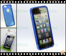 Capa case cover S-Line gel silicone iPhone 5 e 5S Azul