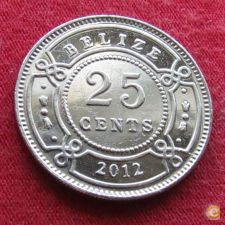 Belize 25 cents 2012   *V
