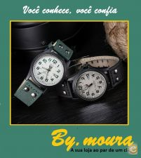 Relogio pulso unisexo Quartz Fashion e Casual