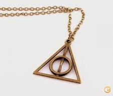 Fio Harry Potter deathly hollows talismãs da morte bronze