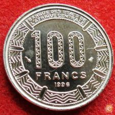 Africa Central 100 francs 1996 KM# 13 Central African States