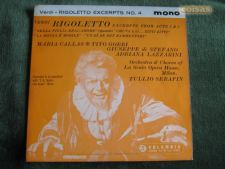 "Rigoletto-Giuseppe Verdi-Excertos-Single 7""-45 RPM-Mono"