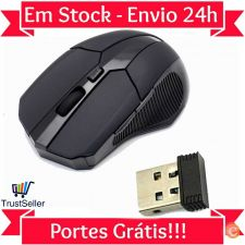 Z168 Rato 2.4GHz Wireless Optico Mouse Sem Fio Gaming Stock