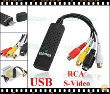 Adaptador USB RCA AV S-Video Video Audio TV DVD VHS PS Xbox
