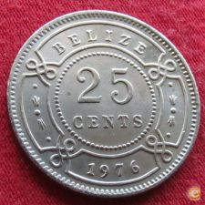 Belize 25 cents 1976 KM# 36