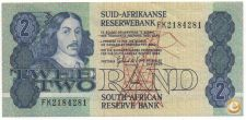 SOUTH AFRICA DO SUL 2 RAND 1978 - 1990 PICK 118 VER SCANS