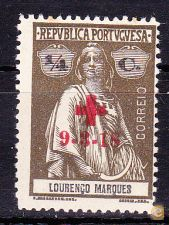 CRUZ VERMELHA . PORTUGAL - 9-3-1918,  Ceres . 1/4 C.