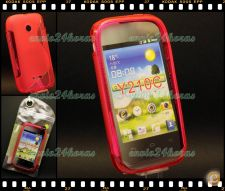 Capa case cover S-Line gel silicone Huawei Ascend Y210C Rosa
