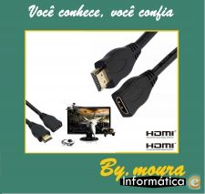 Extensão com 2 metros HDMI HD-Box, PS3, XBOX 360 Blu-Ray DVD