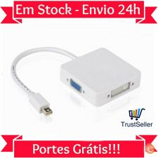 Z285 Cabo Splitter Mini Display HDMI DVI VGA 1080p Macbook