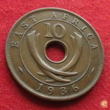África Oriental East 10 cents 1936 H KM# 24