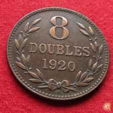 Guernsey 8 doubles 1920 KM# 14 w