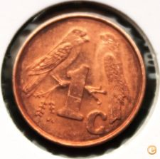 AFRICA do SUL - 1 CENT de 1998- BELO