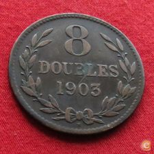 Guernsey 8 doubles 1903 KM# 7